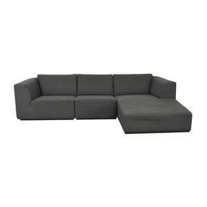 EQ3 EQ3 Morten Three-Piece Sectional Sofa with Chaise nyc