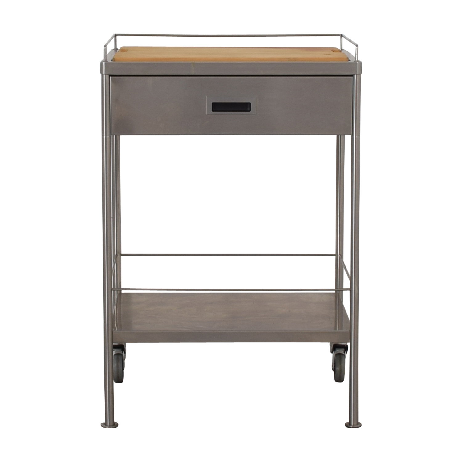 Metal Chef's Single Drawer Table Cart with Cutting Board Tables