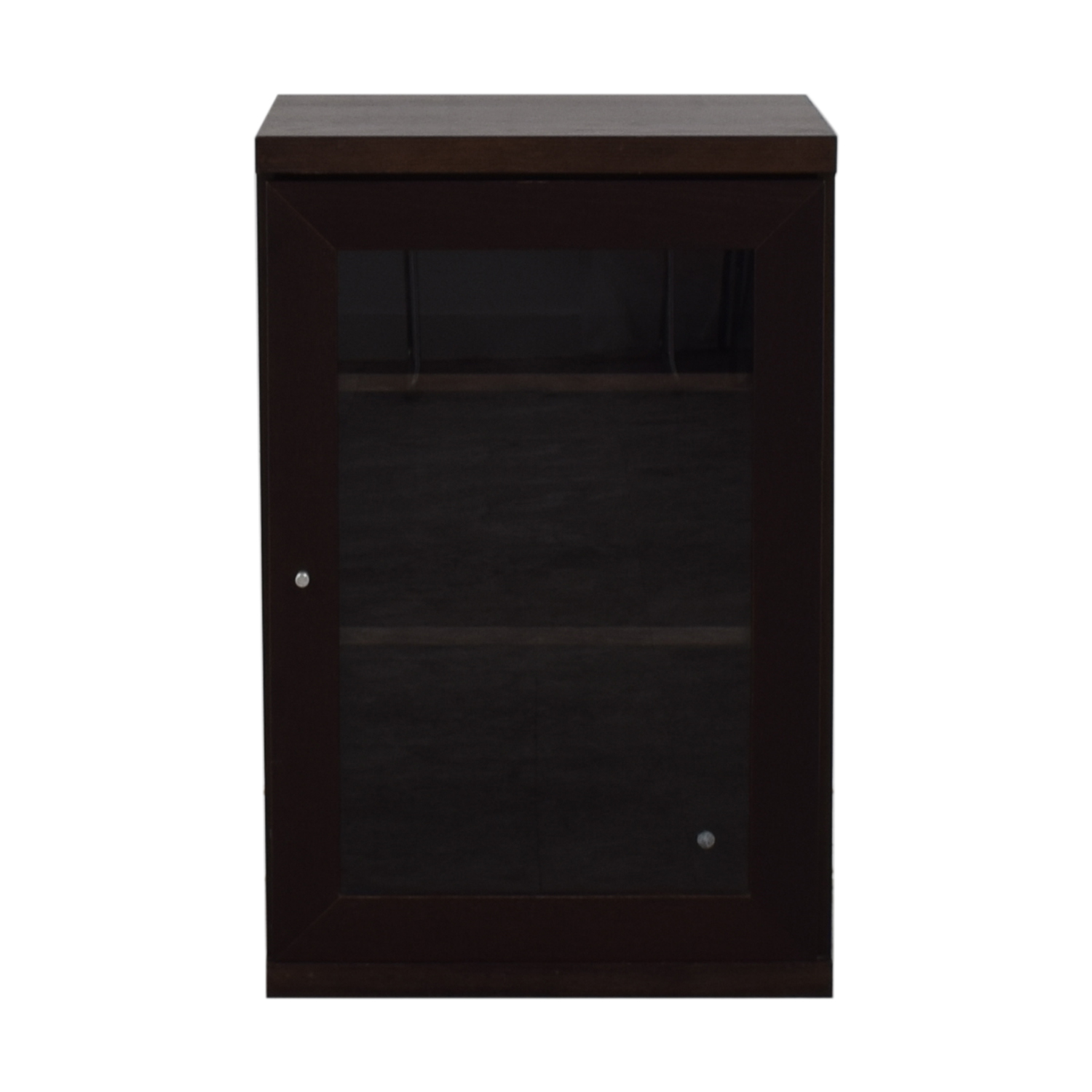 Wood and Glass Shelving Nightstand for sale