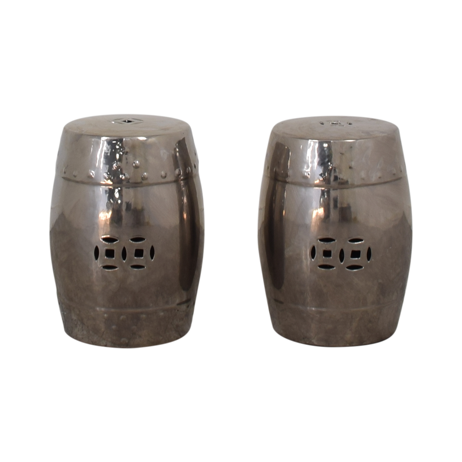 Metal Cut Out Stools dimensions