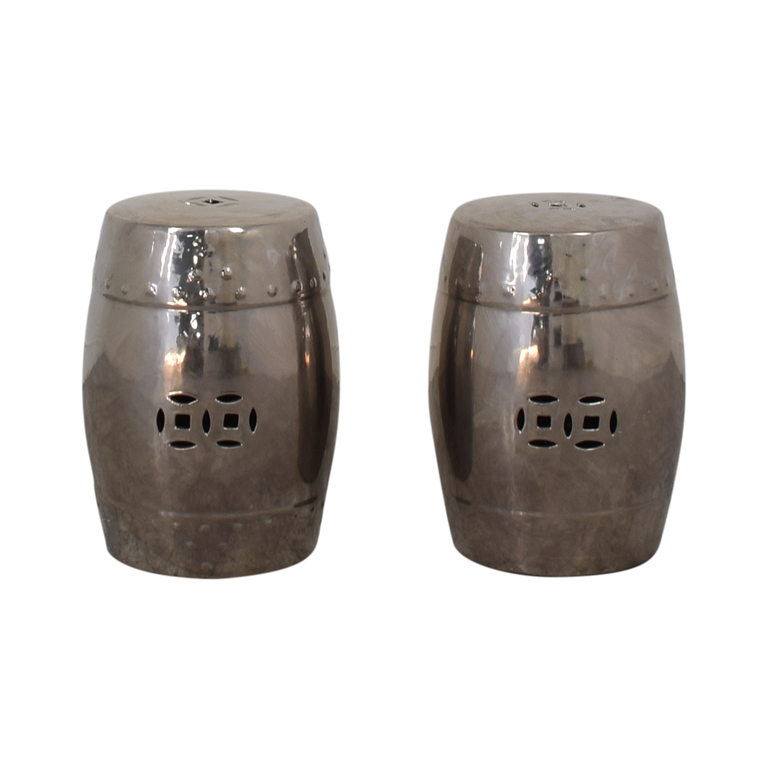 Metal Cut Out Stools second hand