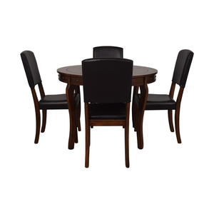 shop Ashley Furniture Round Dining Table with Chairs Ashley Furniture Tables