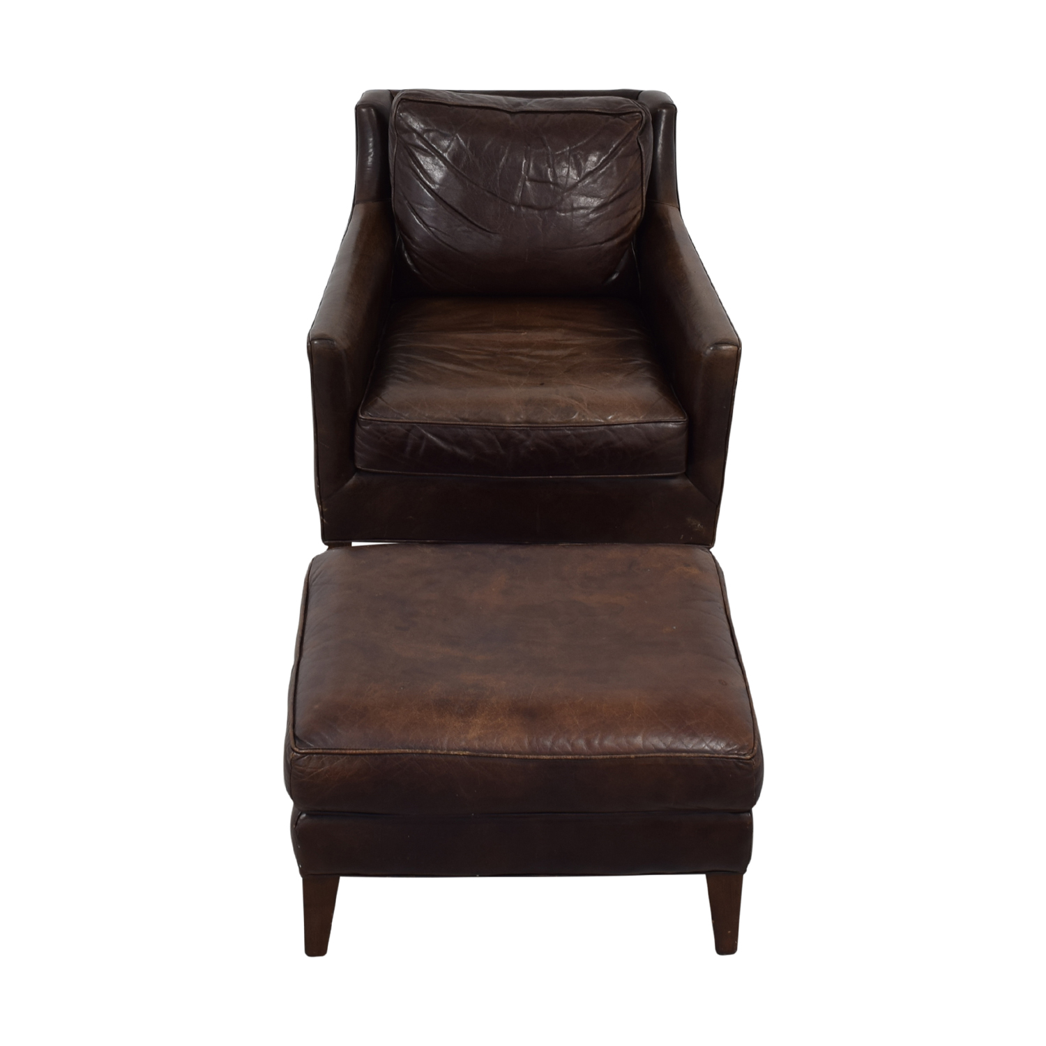 Brown Accent Chair with Ottoman Chairs