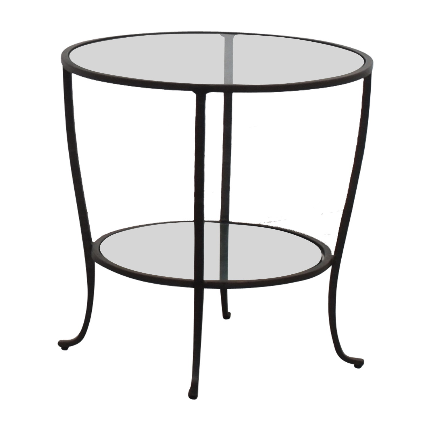 shop Pottery Barn Pottery Barn Round Metal & Glass Table online