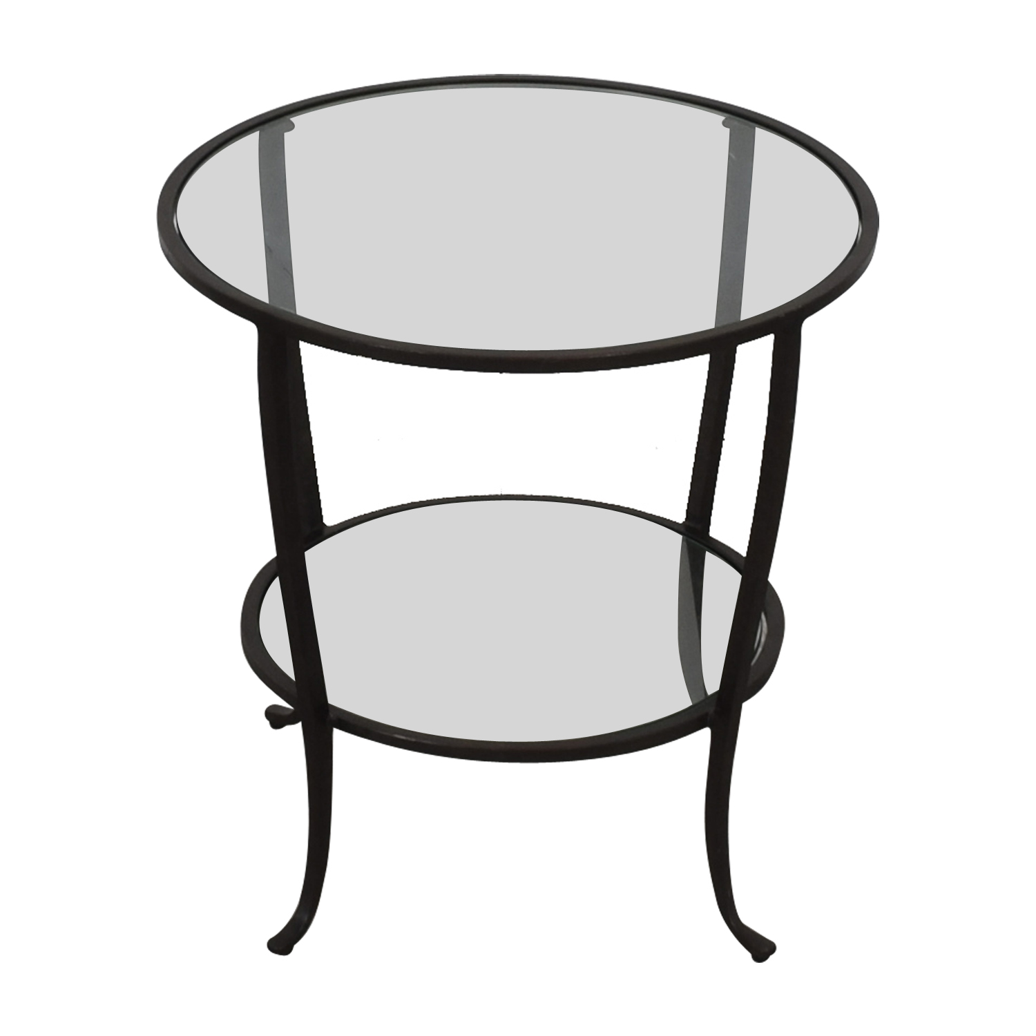 shop Pottery Barn Round Metal & Glass Table Pottery Barn End Tables