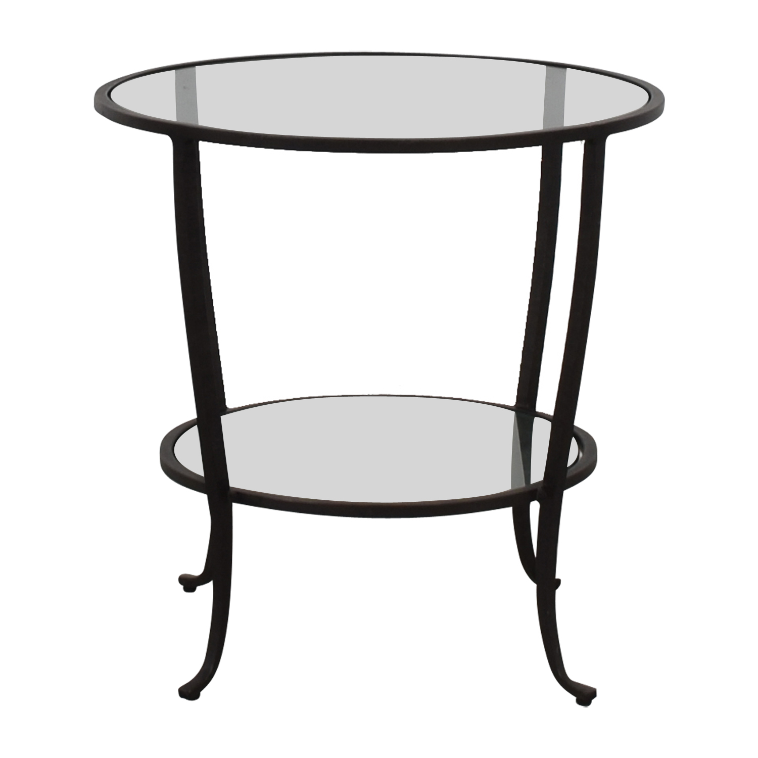 Pottery Barn Pottery Barn Round Metal & Glass Table nj
