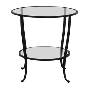 buy Pottery Barn Round Metal & Glass Table Pottery Barn