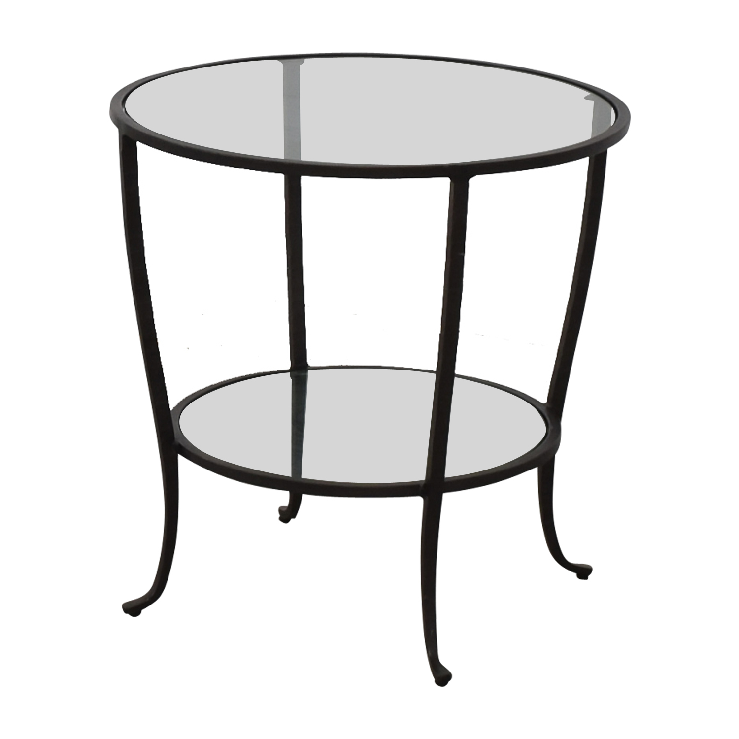 Pottery Barn Pottery Barn Round Metal & Glass Table used