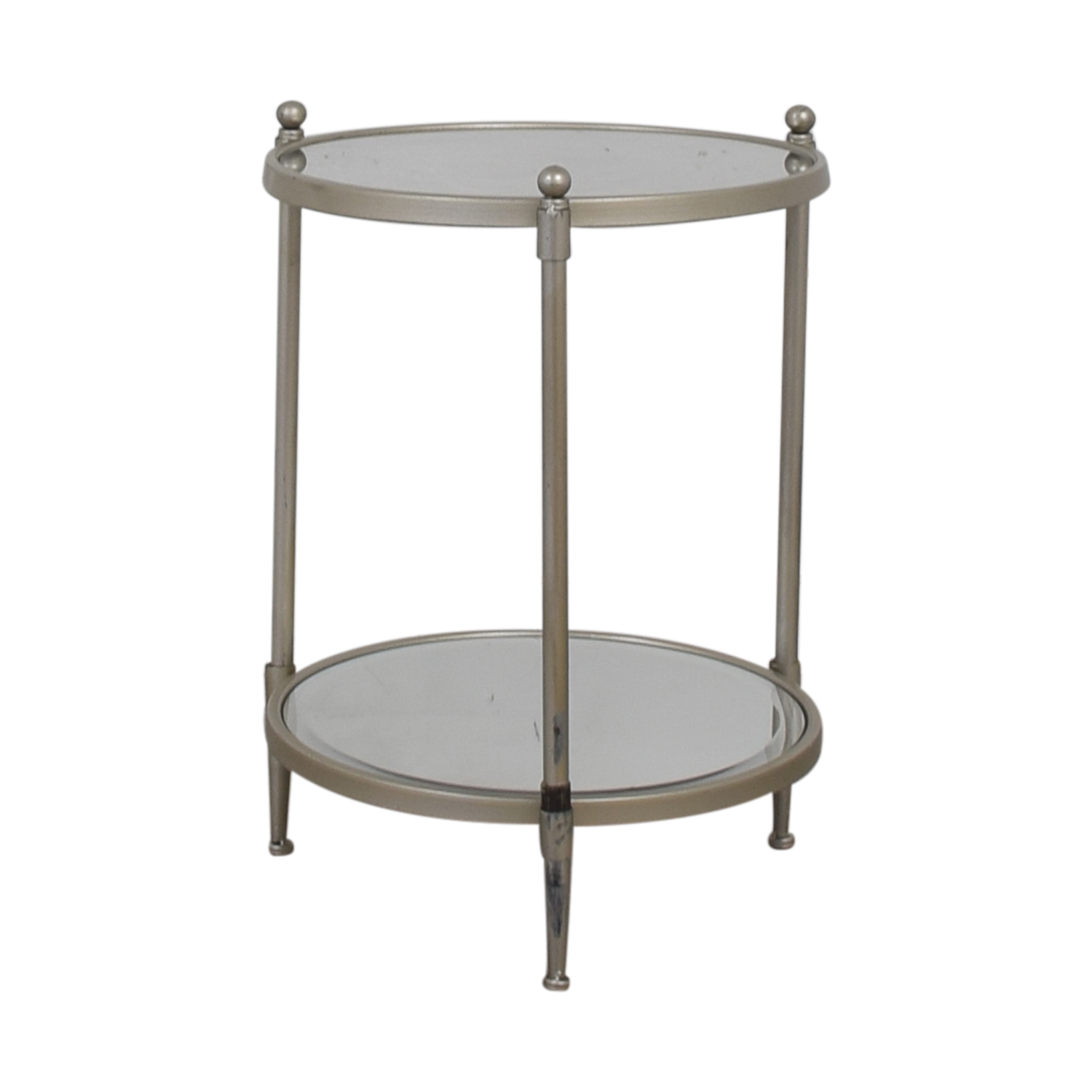 HomeGoods HomeGoods Glass and Mirror End Table for sale
