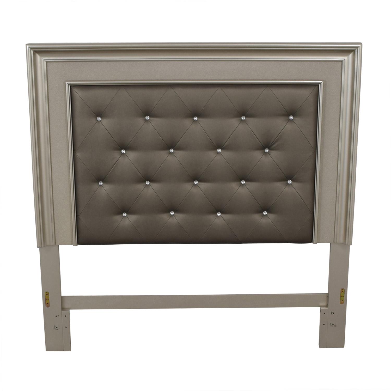 shop Gray Tufted Queen Headboard  Beds