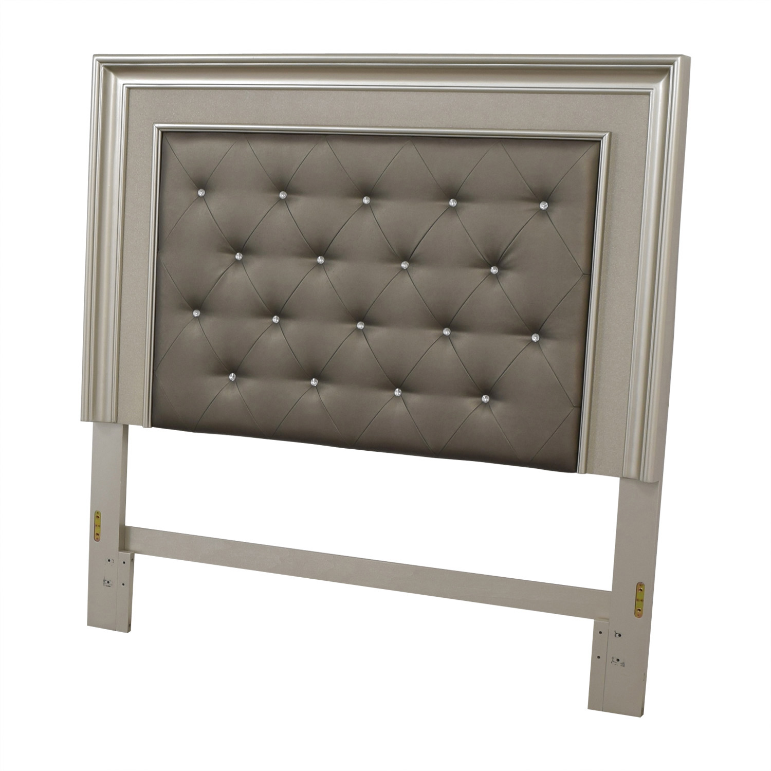 Gray Tufted Queen Headboard used