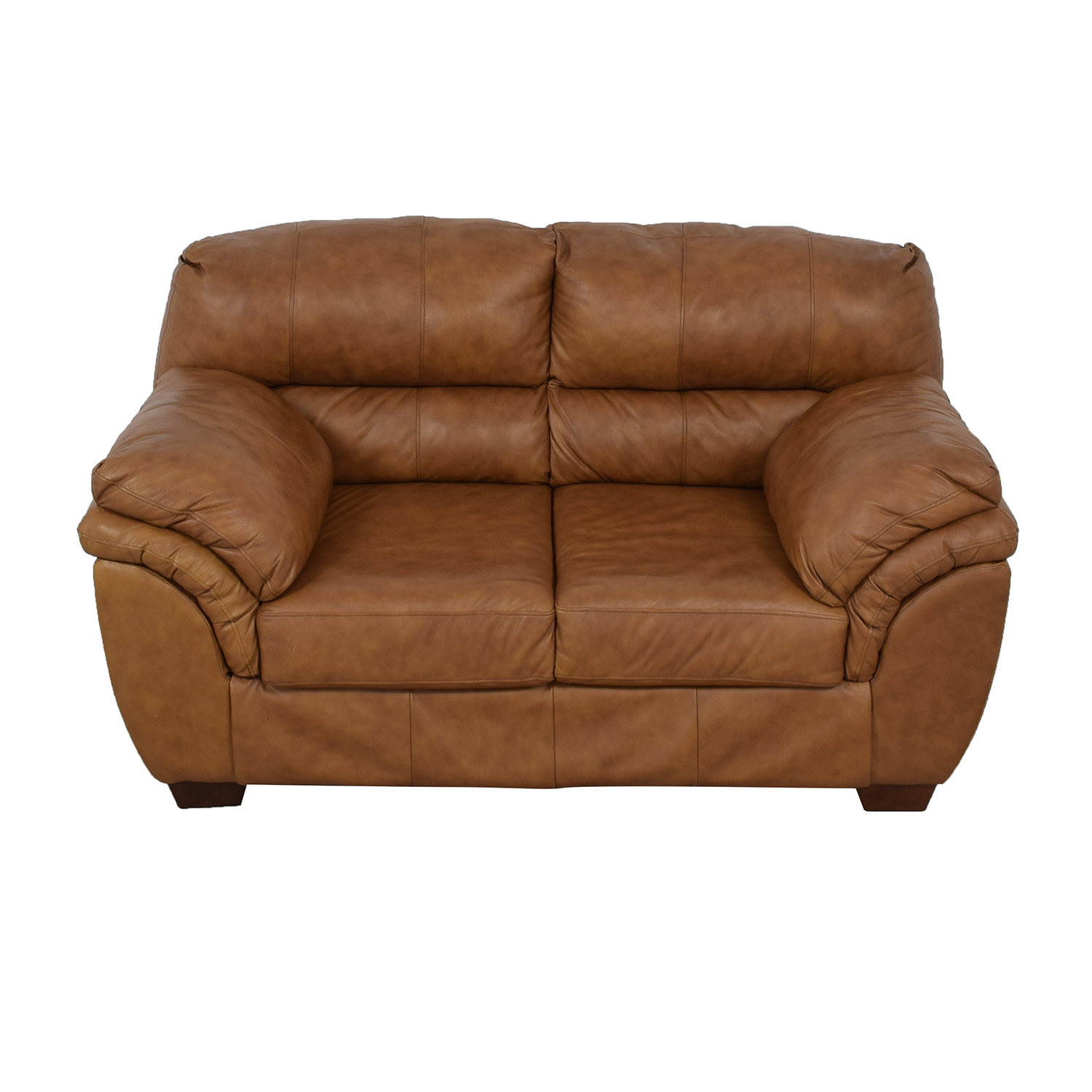 shop Jennifer Convertibles Brown Loveseat Jennifer Convertibles
