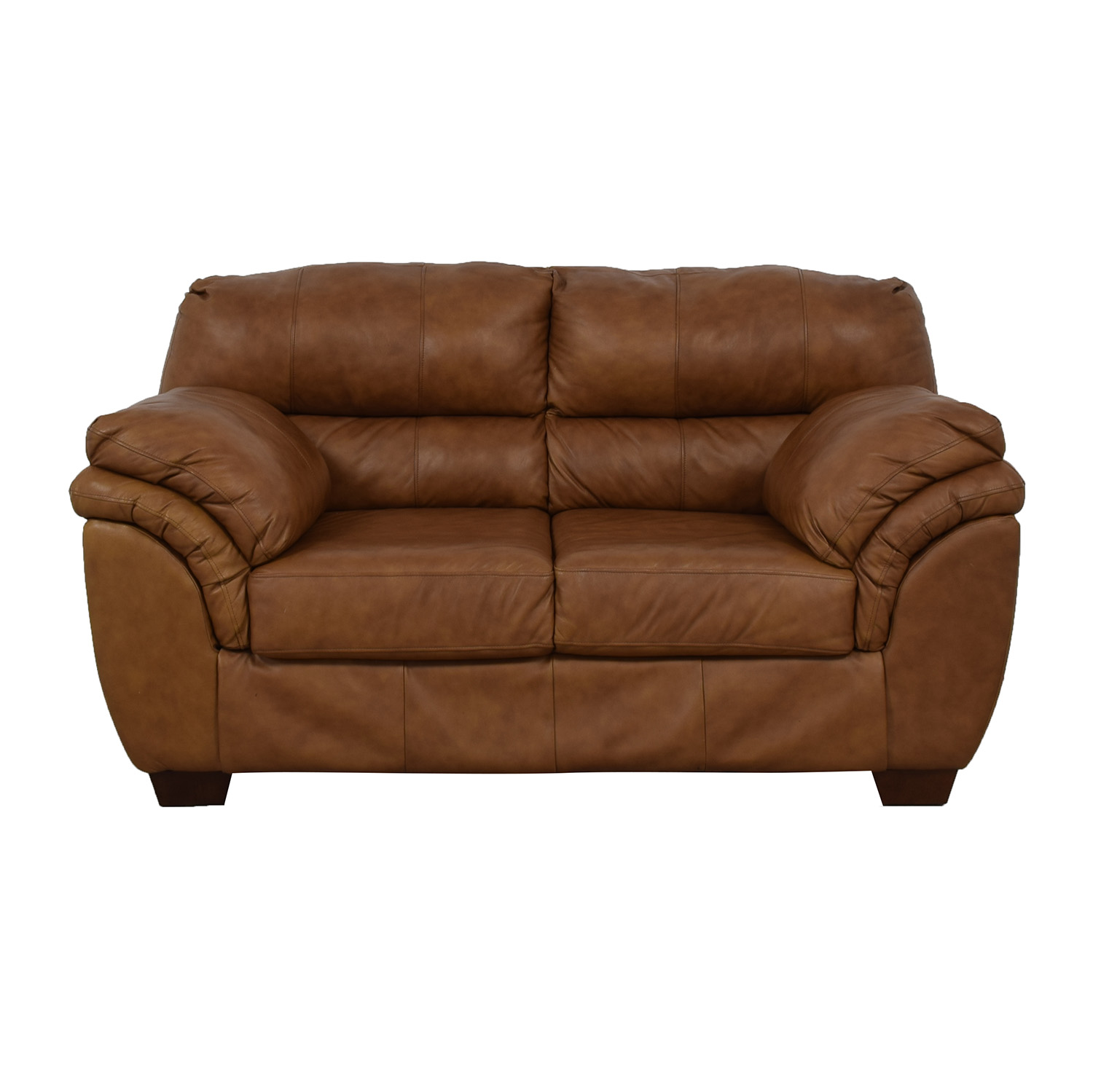 Jennifer Convertibles Jennifer Convertibles Brown Loveseat light brown