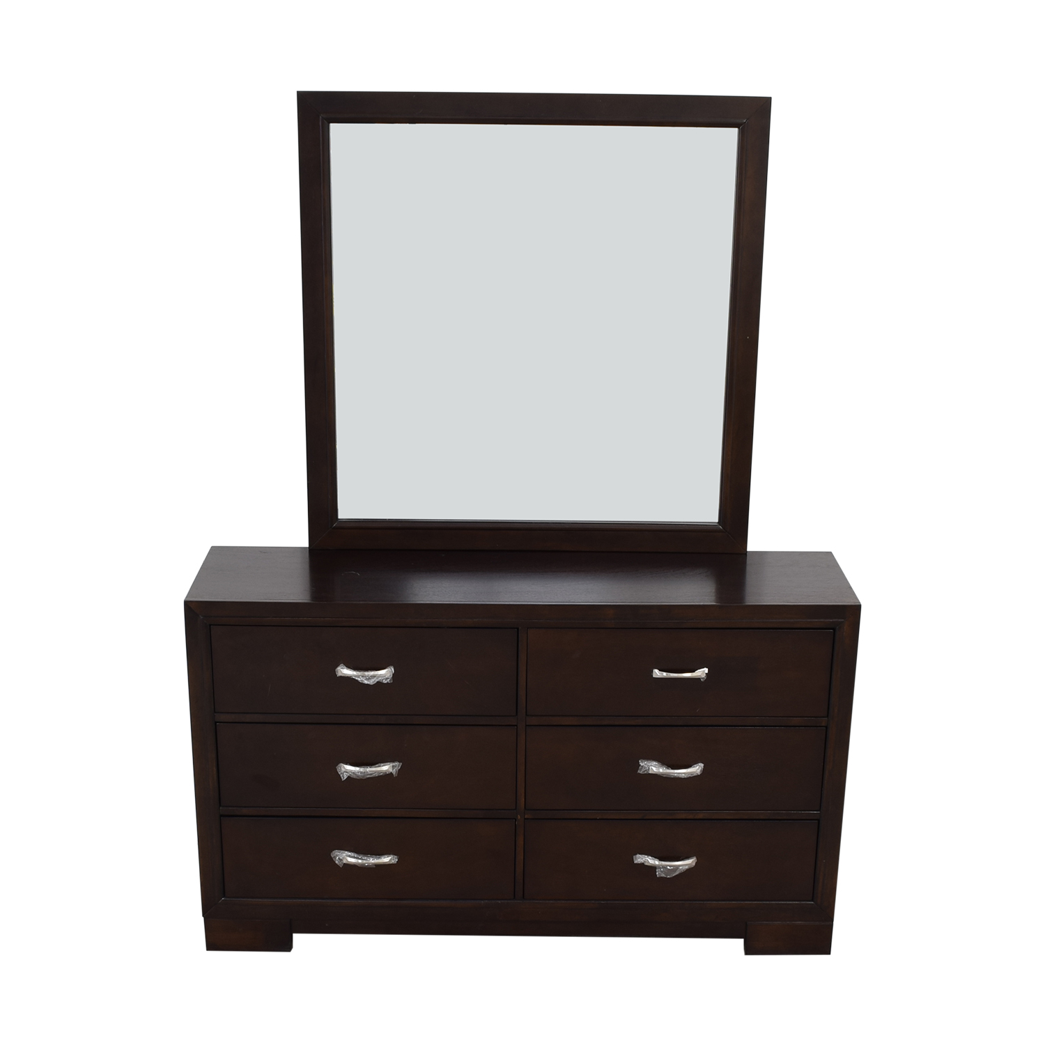 Six-Drawer Dresser with Mirror / Dressers