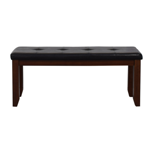 Black Tufted Bench used