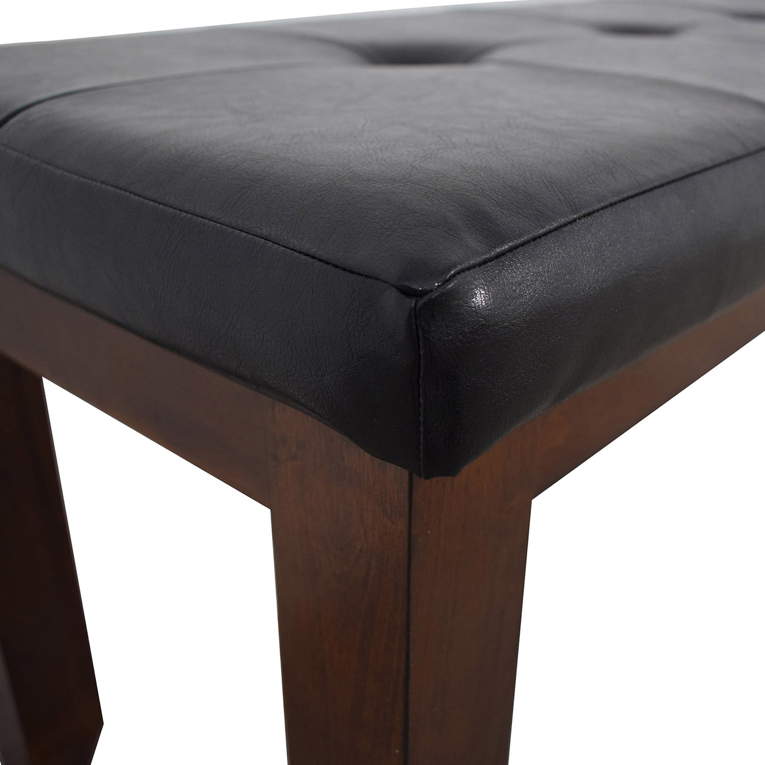 Black Tufted Bench nyc