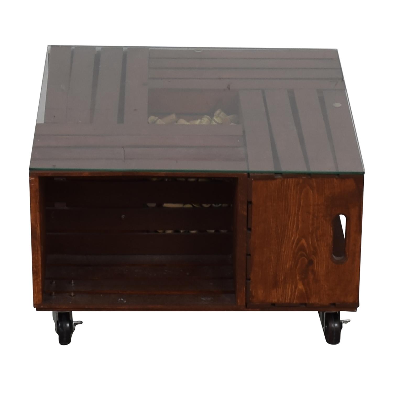 shop Custom Wood Wine Corks Coffee Table  Tables