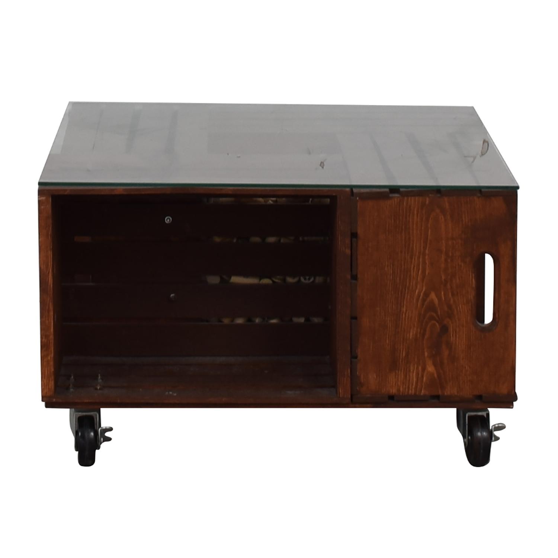 buy  Custom Wood Wine Corks Coffee Table online