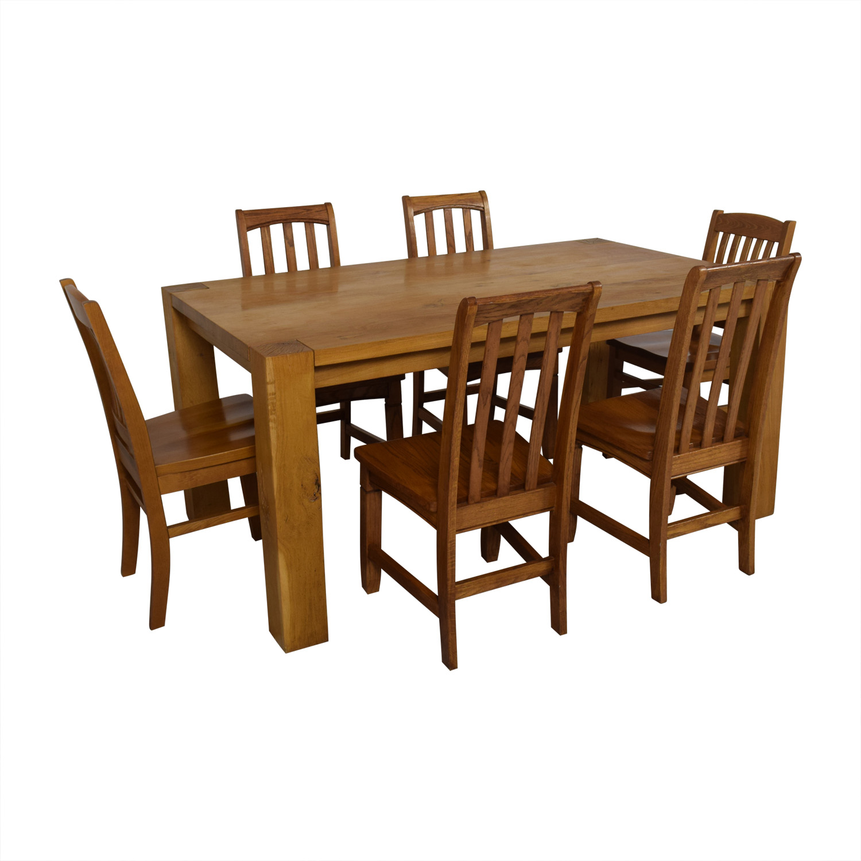 Crate & Barrel Crate & Barrel White Oak Dining Set Tables