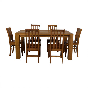 buy Crate & Barrel White Oak Dining Set Crate & Barrel Tables