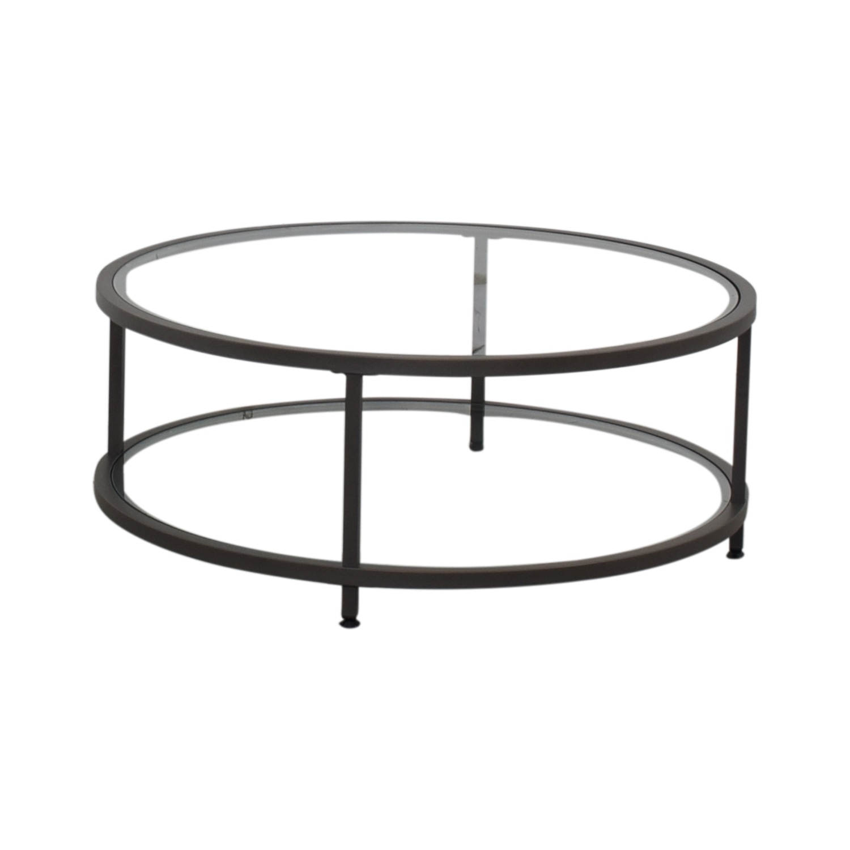 Wayfair Wayfair Round Glass Coffee Table gray
