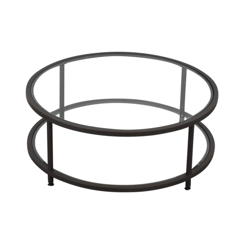 Wayfair Wayfair Round Glass Coffee Table for sale
