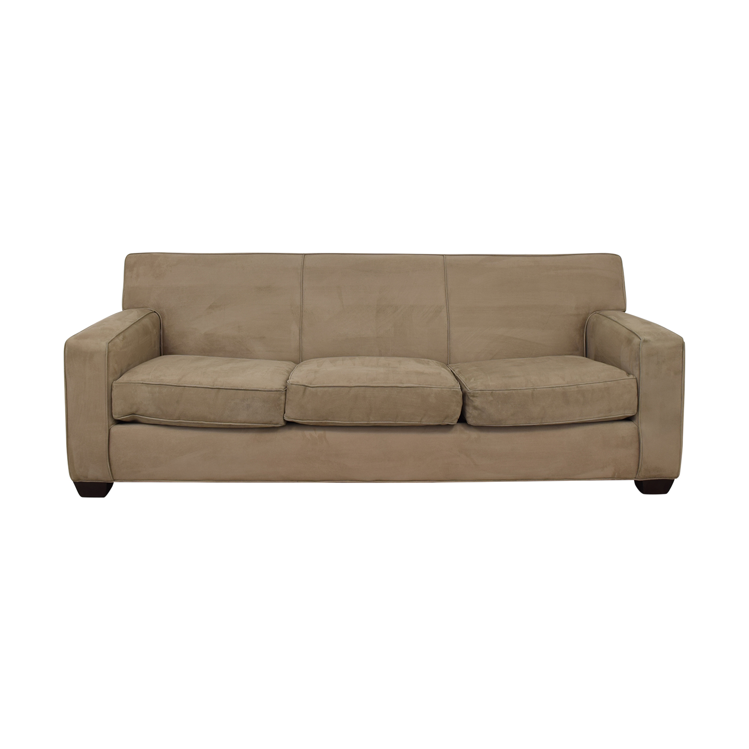 Crate & Barrel Tan Sofa Crate & Barrel