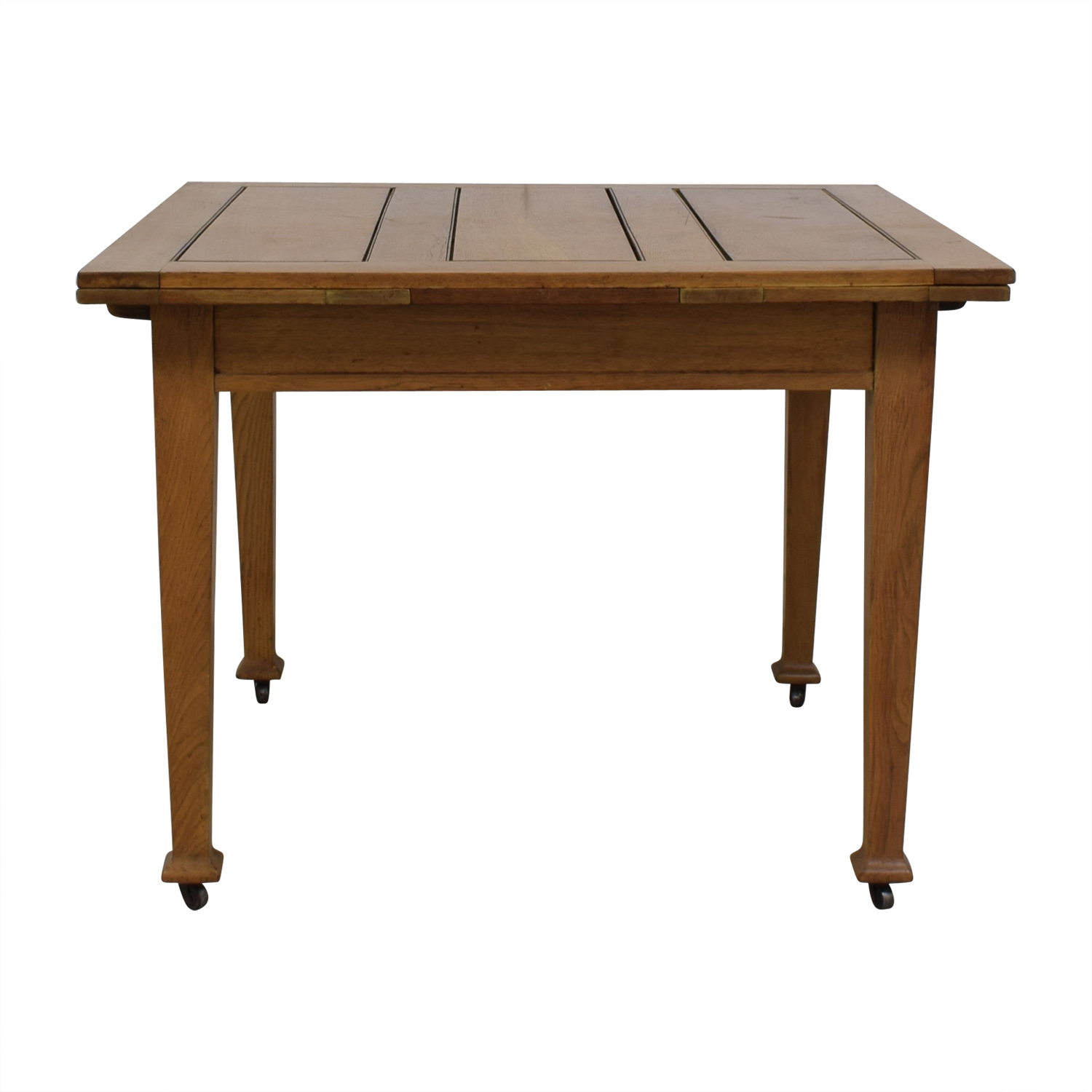 Custom Antique Oak Dining Table with Pull Out Leaves dimensions