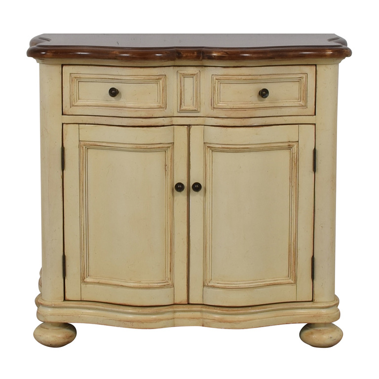 Antique Cream Single Drawer Cabinet