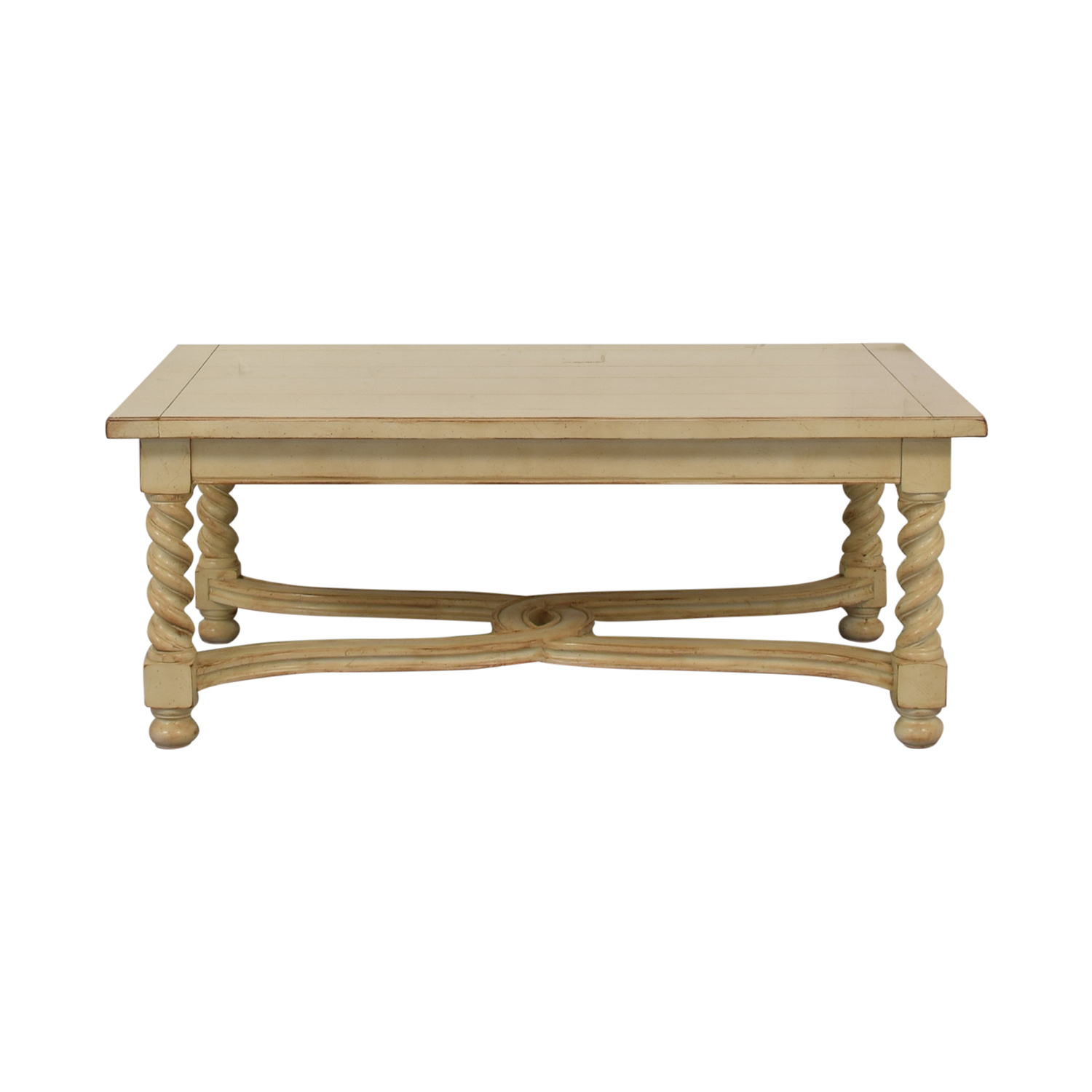Antique Cream Cocktail Table on sale