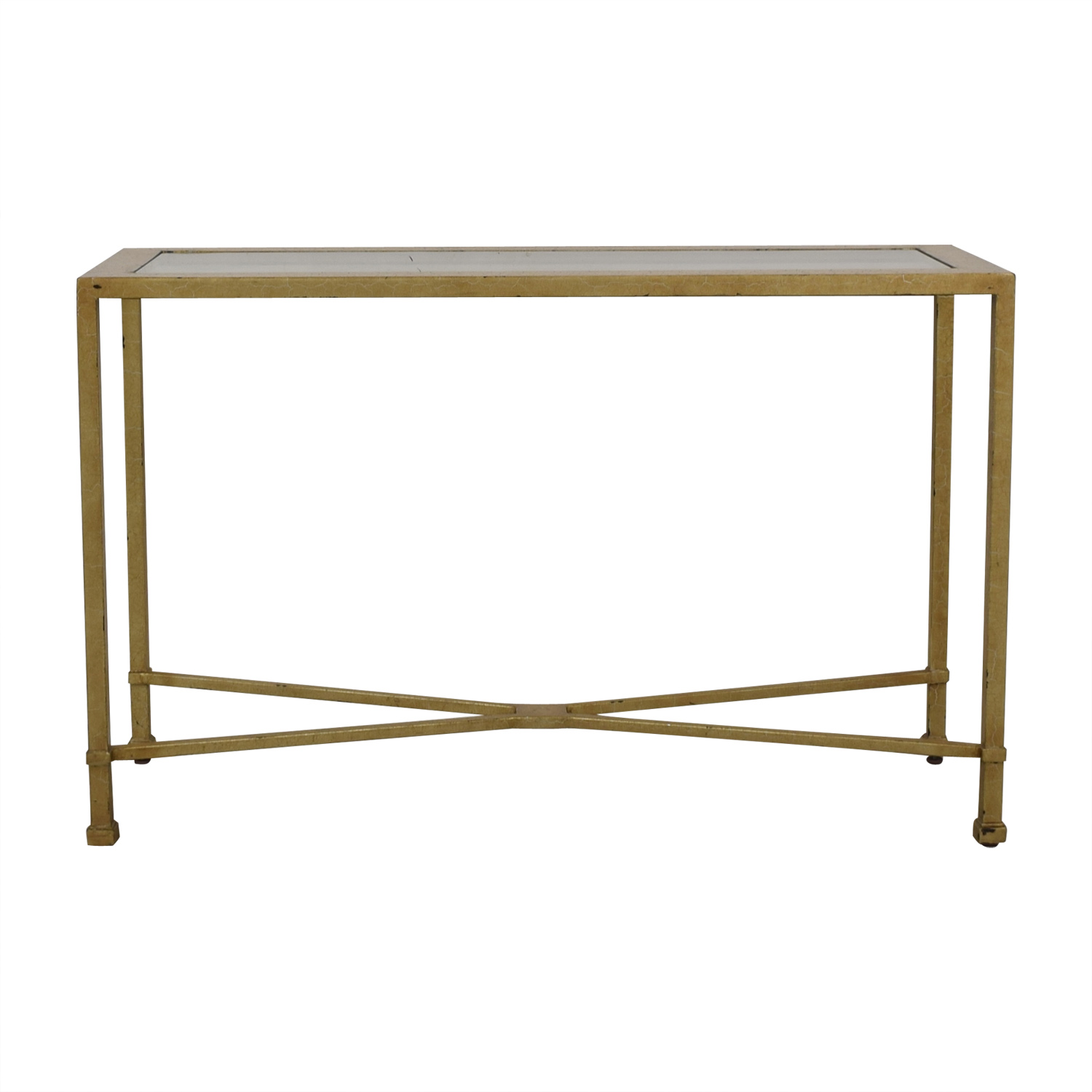 Antique Gold and Glass Foyer Table gold