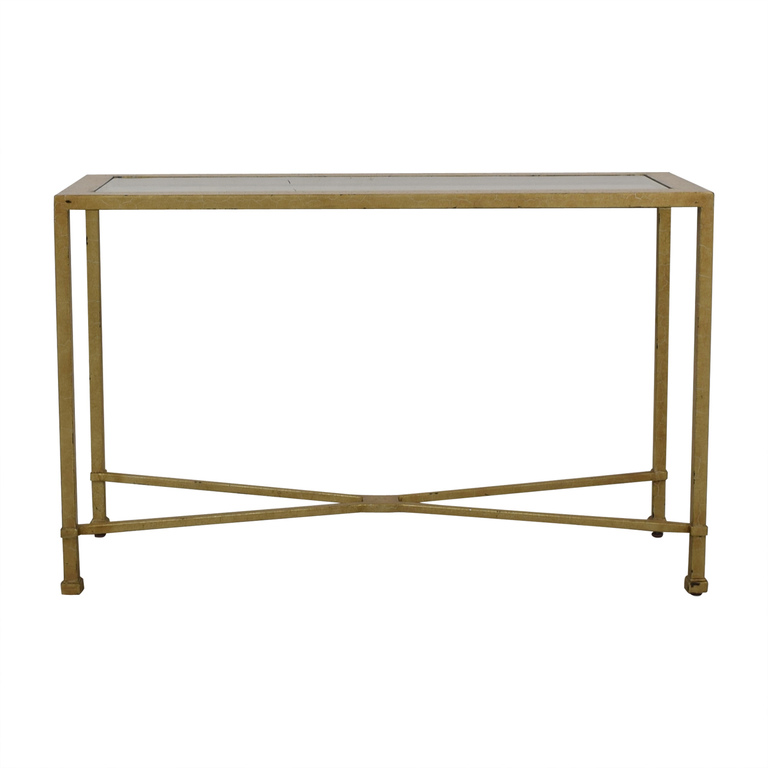 Antique Gold and Glass Foyer Table on sale