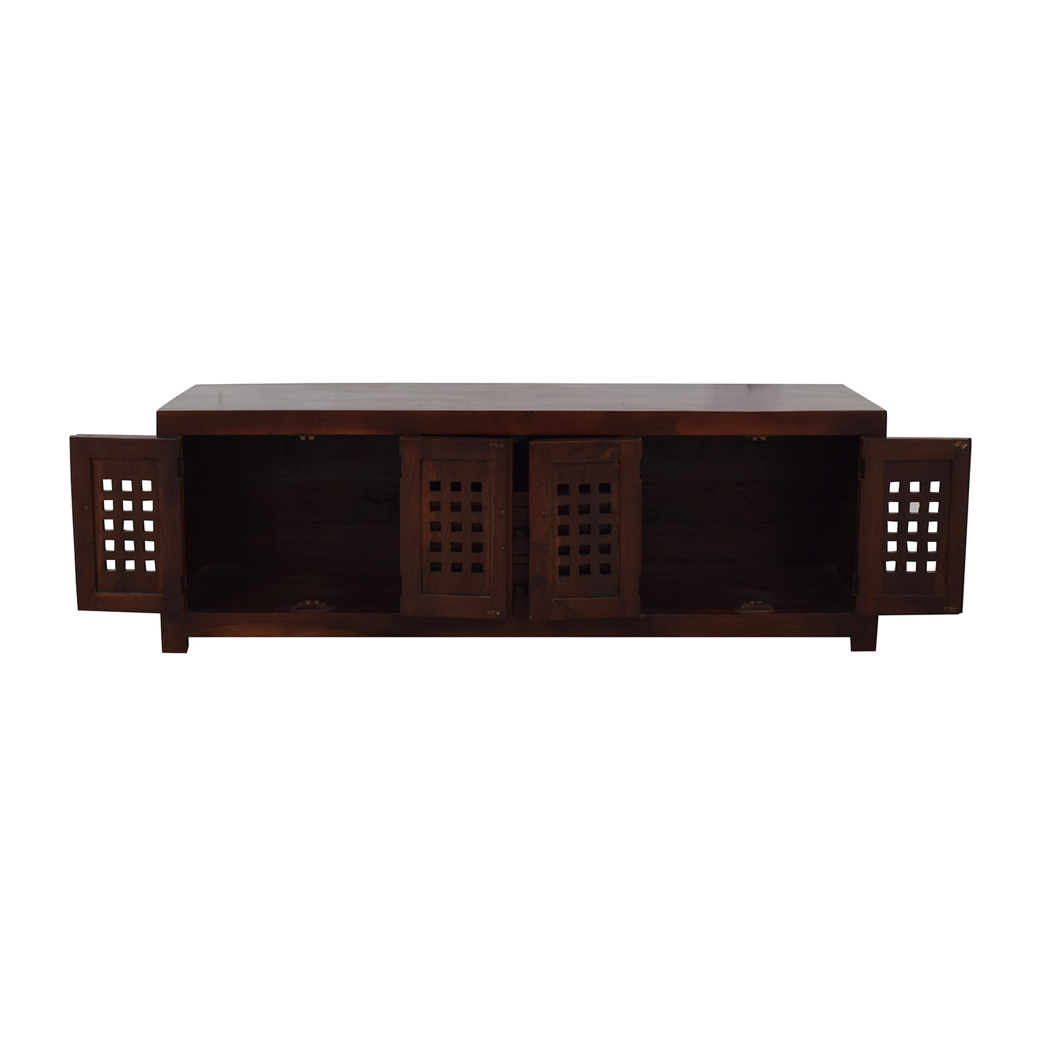 buy Australian Jarrah Wood Console  Storage