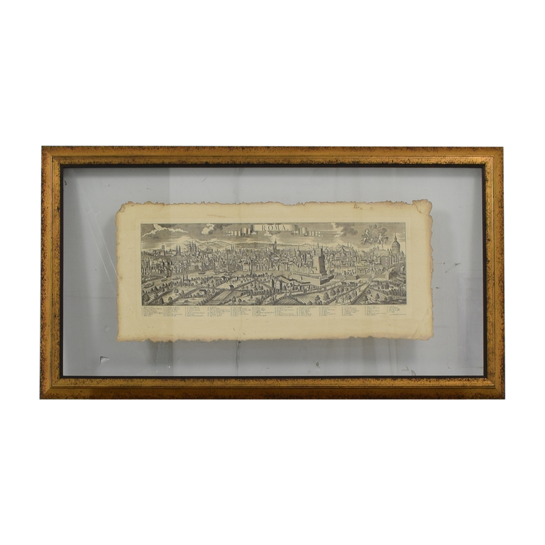 shop John-Richard John-Richard Pressed Glass Roman Map online