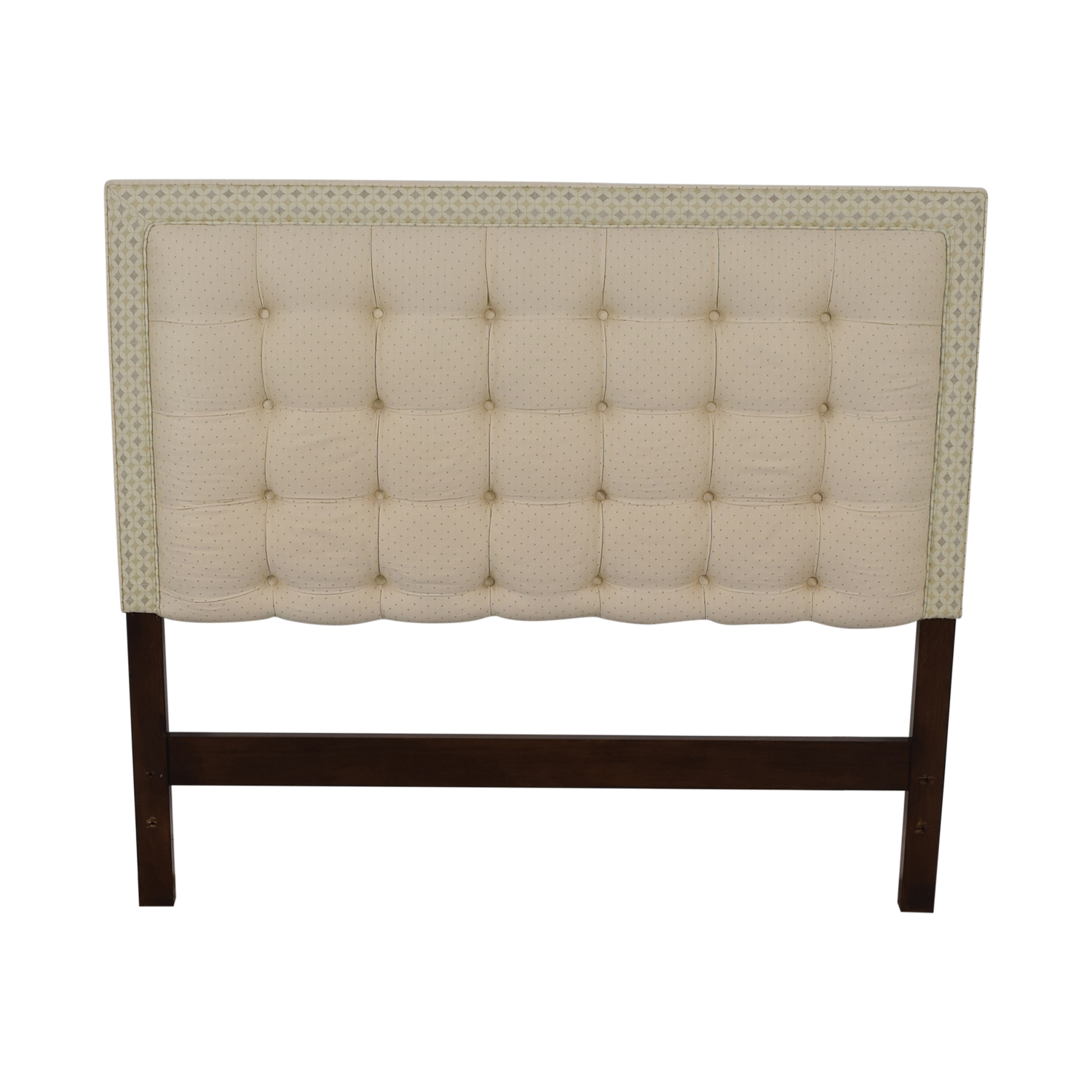 Custom Creme Tufted Queen Headboard nyc