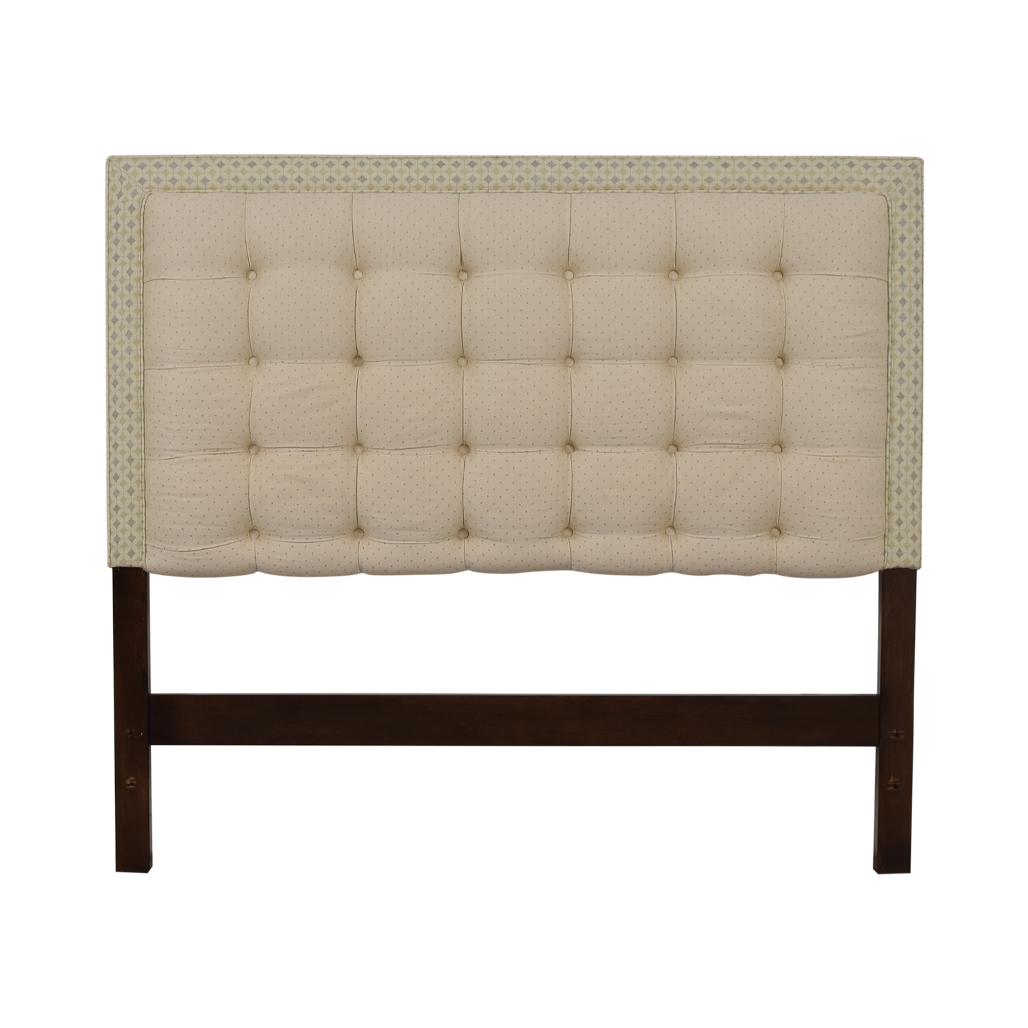 Custom Creme Tufted Queen Headboard used