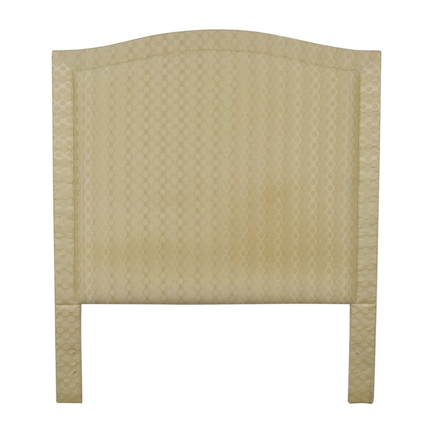 Beige Upholstered Queen Headboard used
