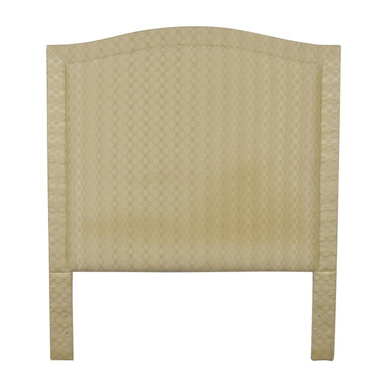 Beige Upholstered Queen Headboard discount