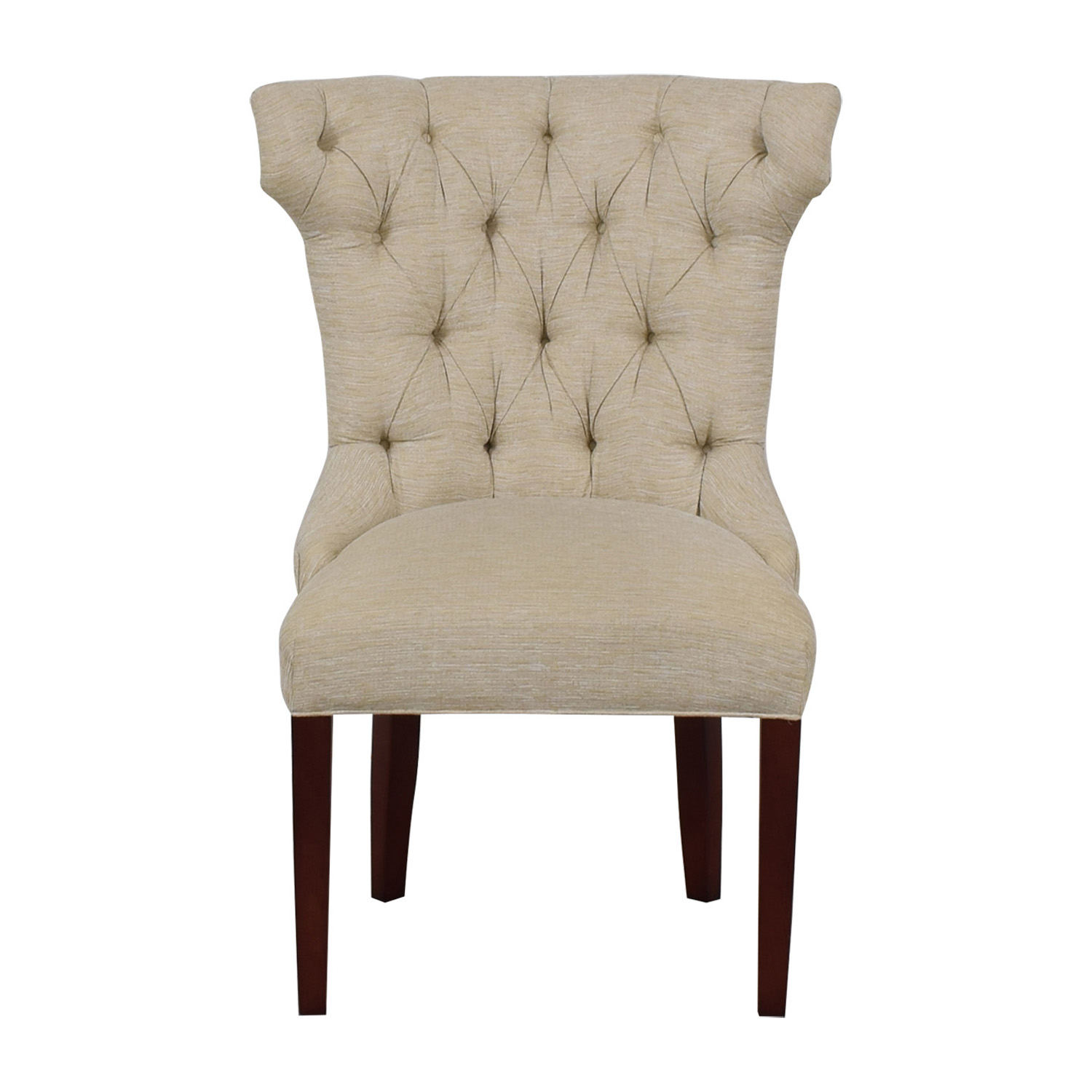 Cream Tufted Accent Chair discount