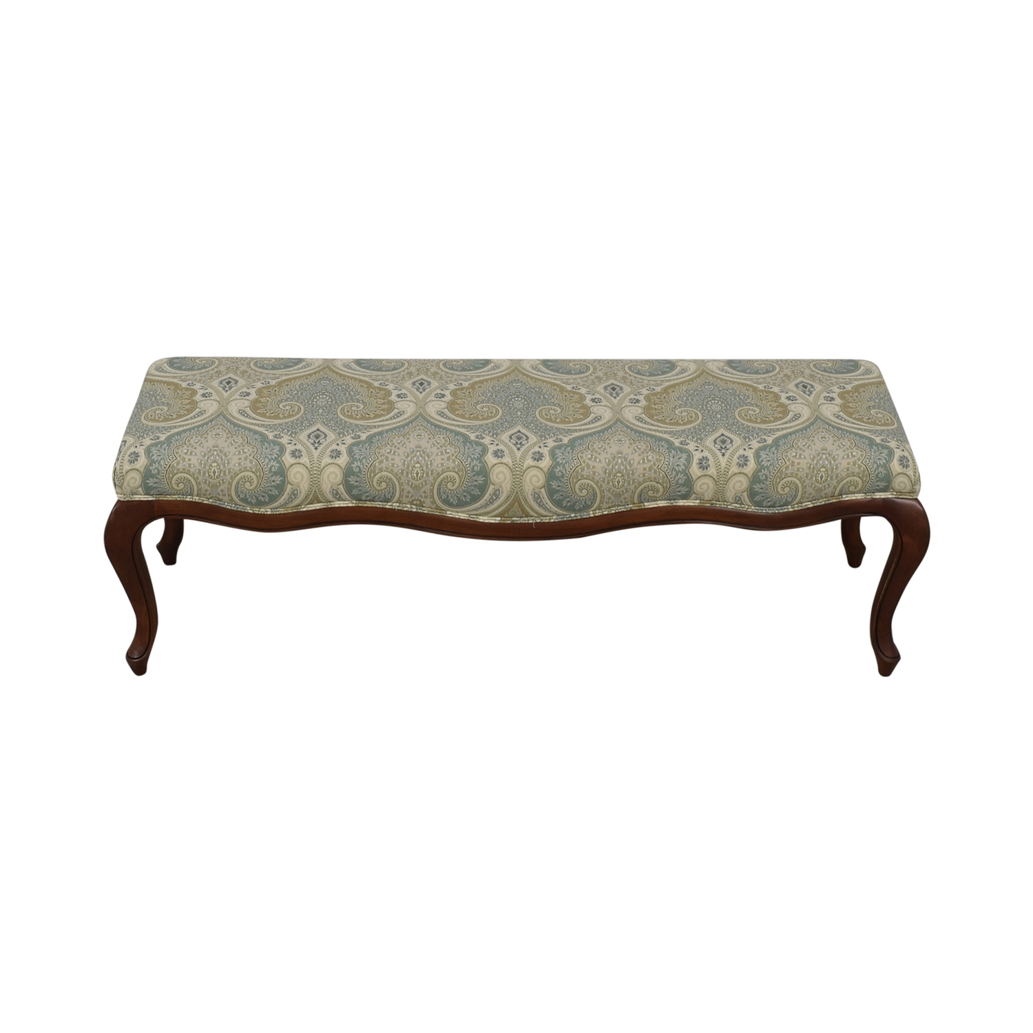 Ethan Allen Ethan Allen Blue Paisley Bench for sale