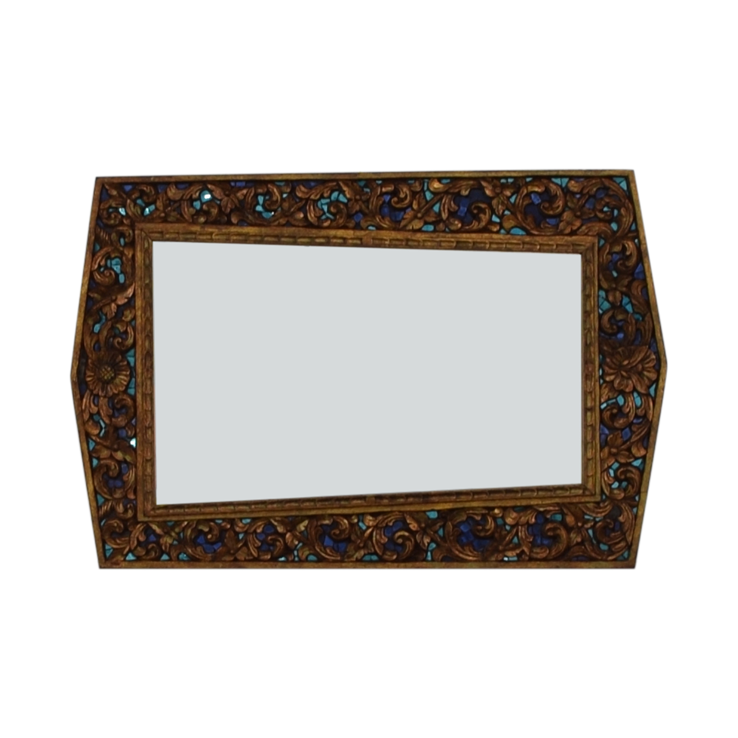 shop Jeweled Asymmetrical Hand Carved Mirror  Decor
