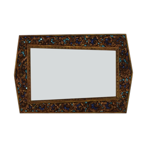 buy  Jeweled Asymmetrical Hand Carved Mirror online