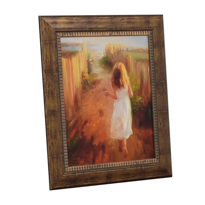 buy John-Richard John-Richard Girl Picking Flowers Framed Print online
