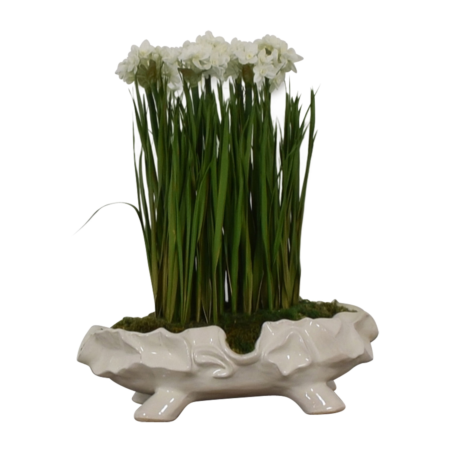 John-Richard Paperwhite Garden Faux-Floral Arrangement / Decorative Accents