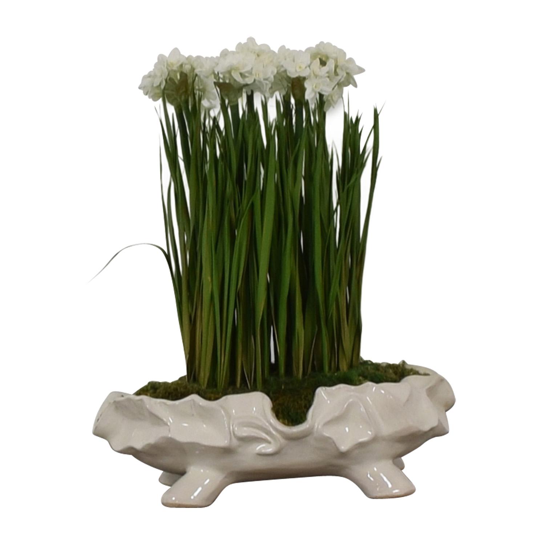 John-Richard John-Richard Paperwhite Garden Faux-Floral Arrangement dimensions
