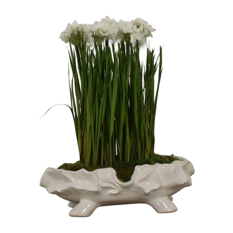 buy John-Richard Paperwhite Garden Faux-Floral Arrangement John-Richard Decor