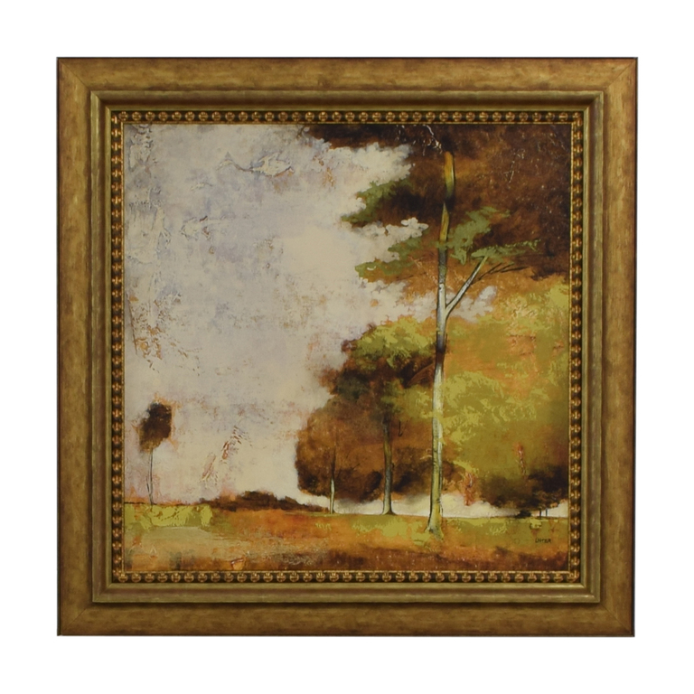 Original Trees Framed Art Work Decor
