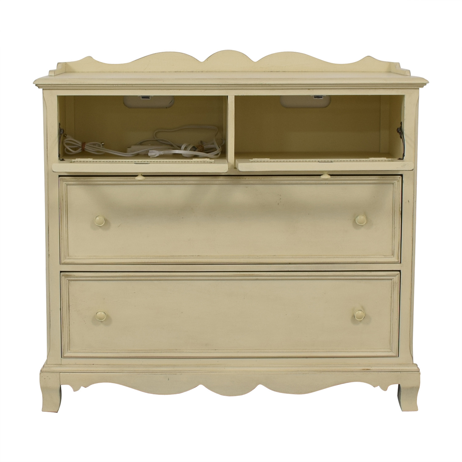 Paula Deen Home Paula Deen Home White Two-Drawer Media Cabinet nyc