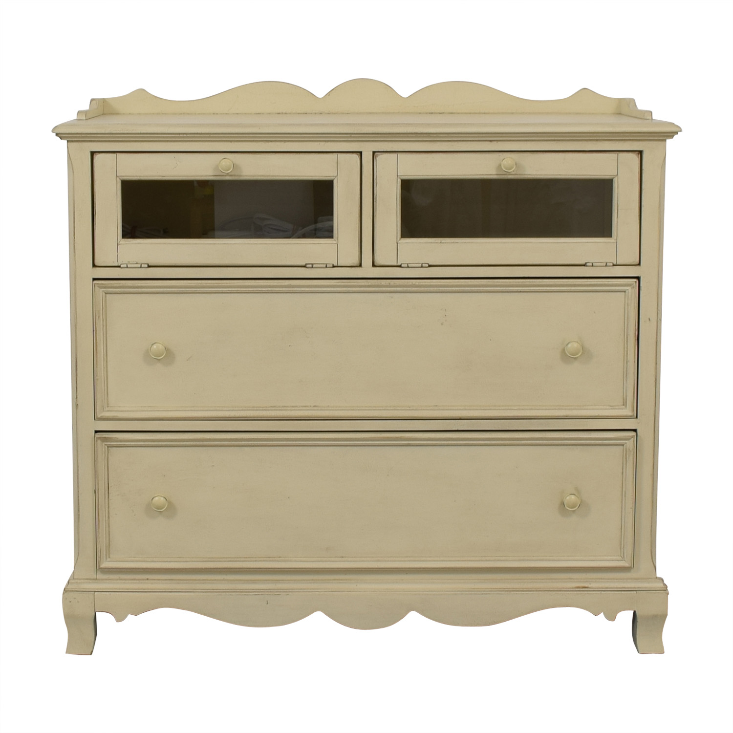 Paula Deen Home Paula Deen Home White Two-Drawer Media Cabinet second hand