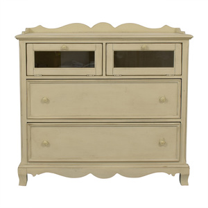 Paula Deen Home Paula Deen Home White Two-Drawer Media Cabinet dimensions